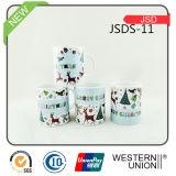 Tasse en céramique promotionnelle de cadeau de Noël avec l'étiquette