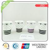 Tasse élevée de porcelaine de magnésie de Quanlity avec l'étiquette