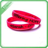 Fördernder Soem-Sport-kundenspezifisches Form-Silikon-Armband