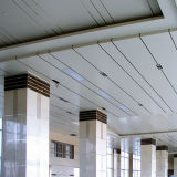 불규칙한 알루미늄은 유행 건물을%s 천장을 물결쳤다
