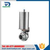 Valvola a farfalla pneumatica pneumatica sanitaria dell'acciaio inossidabile della Cina (DYP-04)