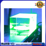 Máquina de marcado láser verde 3D interior con funcionamiento perfecto