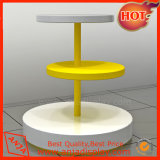 белая стойка индикации круглого стола меламина 3-Tier