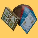 Tarjetas educativas plásticas plásticas modificadas para requisitos particulares de las tarjetas que juegan de los niños