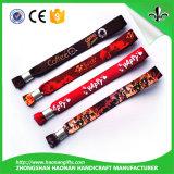 Wristbands tejidos promocionales de la venta caliente y hermosos de encargo para los acontecimientos