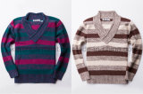 De v-Hals van de Kraag van de Sjaal van de Koker van jonge geitjes Lange Sweater