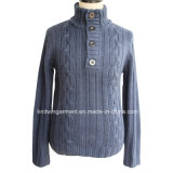 Черепаха Neck Long Sleeve Fashion Jacket Knitted людей с Zipper (M15-029)