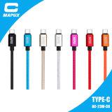 Новый Н тип кабель реверзибельного нейлона Braided USB c