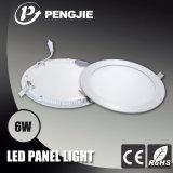 새로운 디자인 6W는 (둥근) 세륨을%s 가진 LED 위원회 빛을 체중을 줄인다
