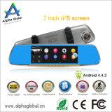 H. Cámara Dash 264 30fps 1080P androide de 7 pulgadas Espejo Retrovisor