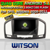 Carro DVD GPS do Android 5.1 de Witson para as insígnias 2008-2011 de Opel com sustentação do Internet DVR da ROM WiFi 3G do chipset 1080P 16g (A5753)