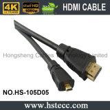 1.4V chapeado niquelar 2.0V HDMI ao micro cabo de HDMI