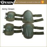 Rilievi di ginocchio tattici militari esterni di Airsoft di colore nero