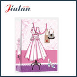 Matte Laminated Ivory Paper Lady's Dress Moda Shopping Gift Bag