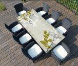 옥외 높은 상단 합판 제품 바는 싱크대를 탁상에 놓는다