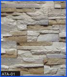 Revêtement en pierre, pierre de revêtement, pierre concrète, pierre artificielle, pierre manufacturée (ATA-01)