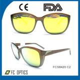Ce redondo de vinda novo FDA dos óculos de sol do frame da forma