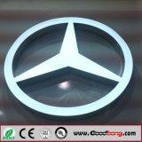 Logotipos Backlit diodo emissor de luz do carro do metal do cromo da alta qualidade