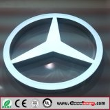Qualitäts-Chrom-Metall-LED Backlit Auto-Zeichen