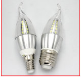 Bulbo do filamento do diodo emissor de luz da vela E14 2W da cauda C35