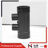 Tubulure de HDPE de l'ajustage de précision de pipe de HDPE de fabrication de la Chine 4-Ways pour le drain