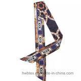 Шарф связи верхнего качества чисто напечатанный шелком (HWBS46)