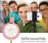 2017 Nouveaux produits 2-en-1 LED Selfie Light Beautify Photos Portable Mini Speaker avec 6 modes de luminosité Cold and Warm Fill Light
