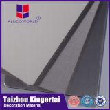 Cahier des charges en bois extérieur de revêtement de mur d'aluminium de panneau d'Alucoworld Acm
