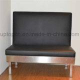 Venta al por mayor muebles de restaurante Black Booth con base de metal (SP-KS150)