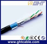 4X0.52mmcu 0.95 Mmpe O.D. : câble extérieur de ftp CAT6 de 6.1mm