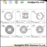 La costruzione di alluminio anodizzata del materiale da costruzione del dissipatore di calore di profilo della pressofusione
