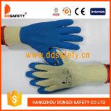 Coton 2017 de Ddsafety avec des gants de latex de pli de doublure de polyester