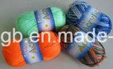 싸게 뜨개질을 한 도매 털실에 의하여 인쇄되는 다채로운 염료 아크릴 직물 (T001)