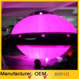 UFO-Helium-Ballon, aufblasbarer Beleuchtung-Ballon mit Firmenzeichen-Drucken