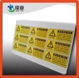Escrituras de la etiqueta al aire libre resistentes y del agua ULTRAVIOLETA de la prueba de la impresión
