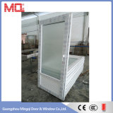 Puerta interior del cuarto de baño del vidrio helado
