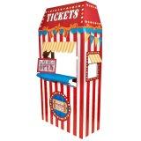 Stand de carton de cabine de billet, stand de carton de magasin de sucrerie de carnaval