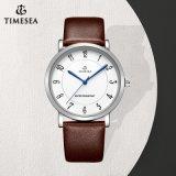 Unisex-Horloge van het Horloge van het Roestvrij staal van het Kwarts van de manier het Achter met Riem 72767 van het Leer
