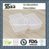 Cadre de déjeuner en plastique remplaçable de conteneur de nourriture de compartiment simple clair (SZ-L-500ML)