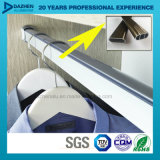 Bride de fixation en aluminium de garde-robe de profil arrêtant le tube ovale