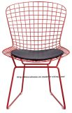 O restaurante de jantar moderno da réplica bate para baixo a cadeira vermelha do fio