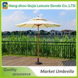 paraguas redondo económico al aire libre europeo durable del mercado de los 9FT