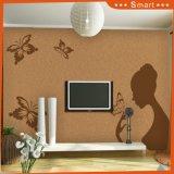 un beau modèle de fille et de guindineaux pour la peinture à la maison de décoration