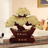 Statue chanceuse d'arbre de décoration de la Chine de richesse riche de Pachira Macrocarpa