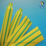 Tuyauterie jaune verte de rétrécissement de la chaleur pour le câble d'alimentation