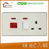 Tomada de interruptor elétrico 13 AMP com tomada USB