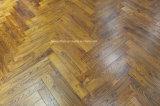 Parquet chinois de plancher de bois dur de teck gratté par main antique