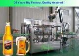 Het Vullen van het Bier van de Kroonkurk van de Fles van het Glas van Full Auto Machine