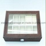 Kingly Handmade коробка упаковки ювелирных изделий оптовой продажи коробки ювелирных изделий Croco кожаный