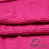 Agua y de la ropa de deportes tela tejida chaqueta al aire libre Viento-Resistente 100% de la pongis del poliester del telar jacquar de la tela escocesa abajo (53217)